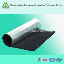 Resistente al fuego Fibra de preoxidación Fibra de carbono con fieltro negro Fibra de carbono con fibra de algodón punzonada