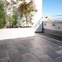 Azulejo de pizarra verde antideslizante natural para piso