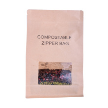 Bolsa de café biodegradable plana con válvula compostable