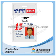 Cartão de identificação de empregado de plástico PVC ID Card Facebook