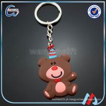 Chaveiro macio, urso de borracha Keychain