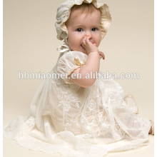 Toddler Girl Princess Dress For 0-2 Year Old Infant Baby Girl Baptism Christening Gown Pageant Dress With hat