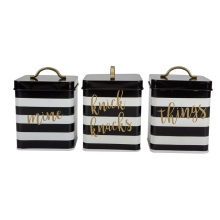 Kitchen Canister Set Gold Storage Canister