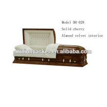 solid cherry American style casket private plans fashion modeling