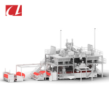 CL-SMS PP Spunbond Meltblown Composite Nonwoven Fabric Making Machine For Hygiene Products