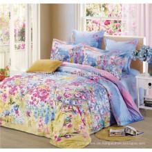 Kundenspezifische bedruckte Bettwäsche Set Chinesische Bettwäsche Set 40s 133 * 72 Baumwolle Blumen