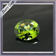 Joyería de moda Set Oval Cut Peridot preciosas gemas