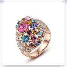 Anillo cristalino de la aleación de la joyería de la joyería de la manera (AL0023G)