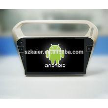 Quad core! Android 4.4 / 5.1 voiture dvd pour PEUGEOT 301 avec écran capacitif de 10,1 pouces / GPS / lien miroir / DVR / TPMS / OBD2 / WIFI / 4G