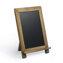 Rustic Wooden Framed Standing Chalkboard Sign with Non-Porous Magnetic Chalk Board Surface for Vintage Decor for Kitchen, Restau