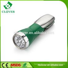 Emergencia multifunción 4 LED BLANCO + 1 LED ROJA linterna de luz fuerte con cuchillo
