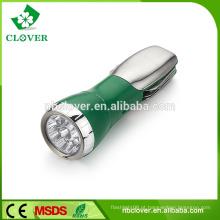 Multi-função de emergência 4 WHITE LED + 1 LED vermelho forte luz lanterna com faca