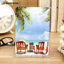 Sunmeta high quality blank sublimation glass photo frame, heat transfer glass photo