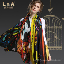 Foulards en soie à rayures colorées Colorfull Scarf