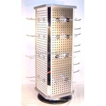 Qualität gesicherte Geschenke Shop Metall Werbeartikel Zähler Top drehende 4-seitige Schlüsselanhänger Display Stand