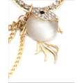 Water through Cat's eye stone goldfish jewellery women waist chain