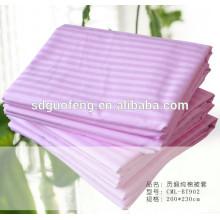100% Baumwolle Satin Streifen Stoff für Bettwäsche Bleichgewebe