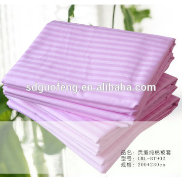 100% cotton satin strip fabric for bedding bleach fabric
