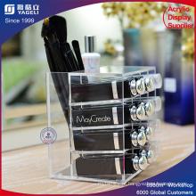 Suporte acrílico de tela cosmética para escovas de maquiagem Lispticks