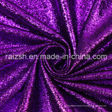 Polyester Plain Bronzing Suede Fashion Leopard Foil Fabric