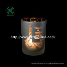 Цветные стеклянные чашки для свечей от SGS (DIA8 * 10.5)