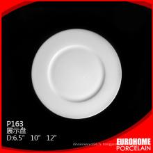 Forte résistance banquet céramique vaisselle porcelaine plat plaque
