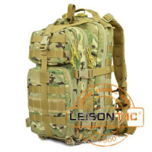Tactical Backpack adopts 1000D waterproof fabric and nylon webbing being stitched with nylon thread