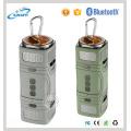 Ipx5 alto-falante à prova d'água 3W * 2 alto-falante Bluetooth Flsahlight