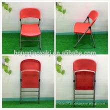 Resina de plástico sillas plegables Silla de boda
