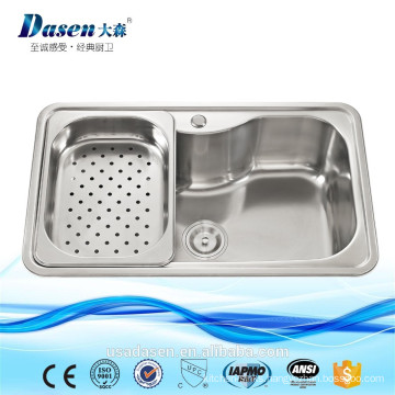 Custom stainless steel big bowl kitchen sink for camping