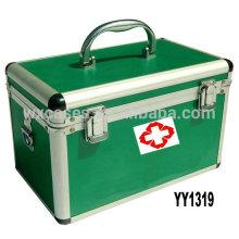 boîte de kit de premiers secours en aluminium avec 2 options de couleur