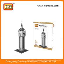 LOZ Diamant Bausteine der Uhr Turm pädagogischen Kunststoff Bausteine Spielzeug für Kinder (Item No.9369)