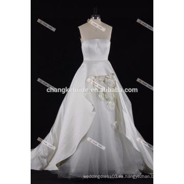 Vestido de boda hinchado del amor 2017 Vestido de boda nupcial hecho a mano de la flor