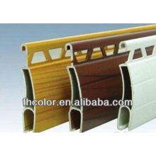 Wood grain transfer powder coating