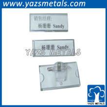 adesivo de placa de nome de metal para funcionários
