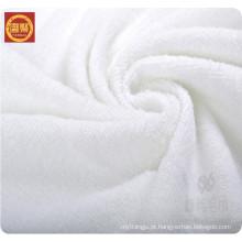 China fábrica branco 100% poliéster microfibra toalha de banho, toalha de hotel, toalha de rosto em massa