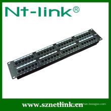 19 pulgadas UTP Cat6 48port montaje en rack Panel de conexiones