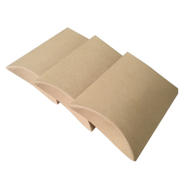 Caixa de travesseiros natural de papel natural Kraft