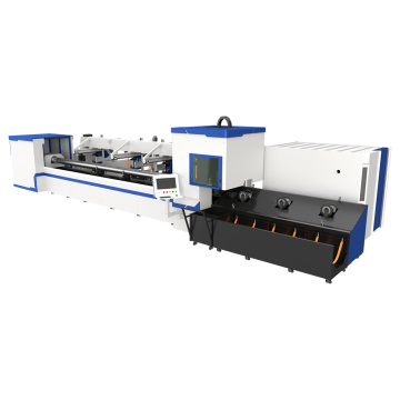Laser cutting with automatic loading and unloading system