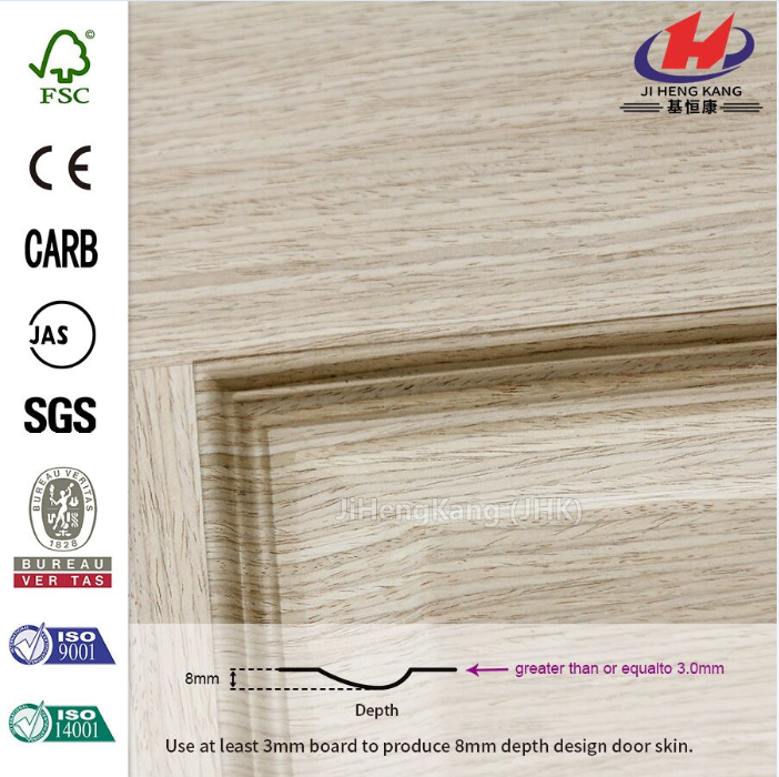 Popular Engineered OAK Molded HDF Door Skin