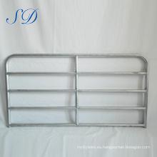 Puerta de panel de ganado de acero de 5 barras de alta calidad