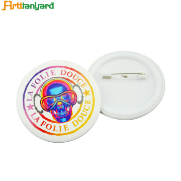 Lencana Button Customized dengan Pin Mudah