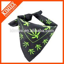 Moda única impresa marca cuadrado bufanda de algodón