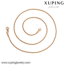 43647 xuping best selling fashion 5 gram simple copper alloy jewelry necklace