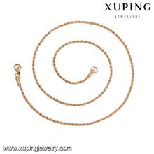 43647 xuping best selling moda 5 grama simples liga de cobre colar de jóias