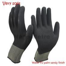 NMSAFETY 13 gauge areia trabalho luva de água pu palm para venda luva de jardinagem