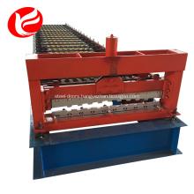 Metal roller shutter door frame forming machine
