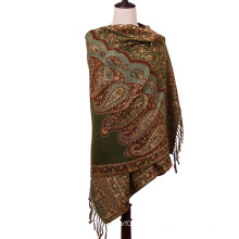 Women′s Flower Pattern Large Size Scarf Winter Pashmina