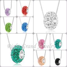 Klarem Kristall gepflastert Big Hole Spacer Perlen europäischen Stil europäischen Kristall Charme Perlen