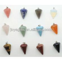 Mode 6 Side Cone Form halb kostbaren Stein Anhänger halb kostbaren Stein Anhänger